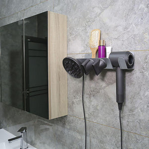 Aluminum Alloy Supersonic Hair Dryer Wall Mount Holder, Hanger Bracket for Dyson Hair Dryer, Diffuser and Two Nozzles-Hair Accessories-Look Love Lust
