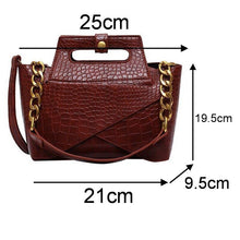 Load image into Gallery viewer, Vintage Alligator Handbag-Shoulder Bags-Look Love Lust