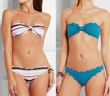 Load image into Gallery viewer, Cute Scalloped Swimwear-Bikinis Set-Look Love Lust