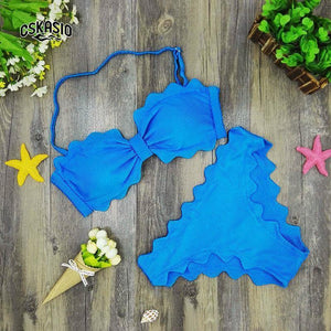 Cute Scalloped Swimwear - Bikinis Set -  Look Love Lust
