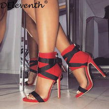 Load image into Gallery viewer, Bella Gladiator Peep Toe High Heels-High Heels-Look Love Lust