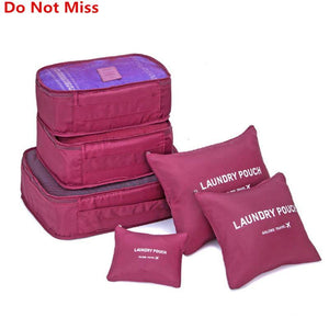 6pcs/set Travel Organizer Bag-Cosmetic Bags & Cases-Look Love Lust