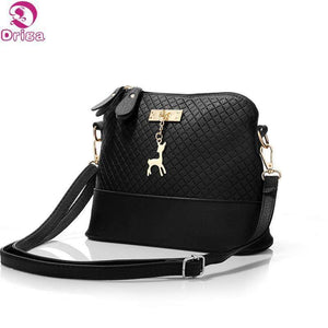 Shoulder Bag With Deer Accent-Shoulder Bags-Look Love Lust