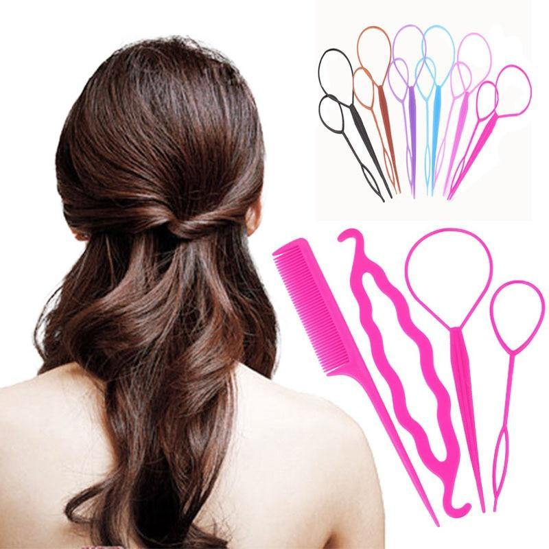 4pcs/set Fast Easy Princess Magic Bun Hairstyle-Hair Care-Look Love Lust