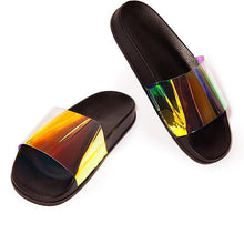 Load image into Gallery viewer, Bling Ladies Flat Slides-Women's Sandals-Look Love Lust