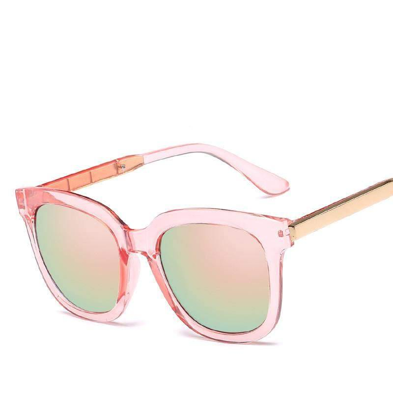 Mirrored Square Sunglasses-Sunglasses-Look Love Lust