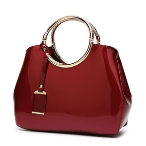 Faux Leather Bag with Metal Details-Look Love Lust