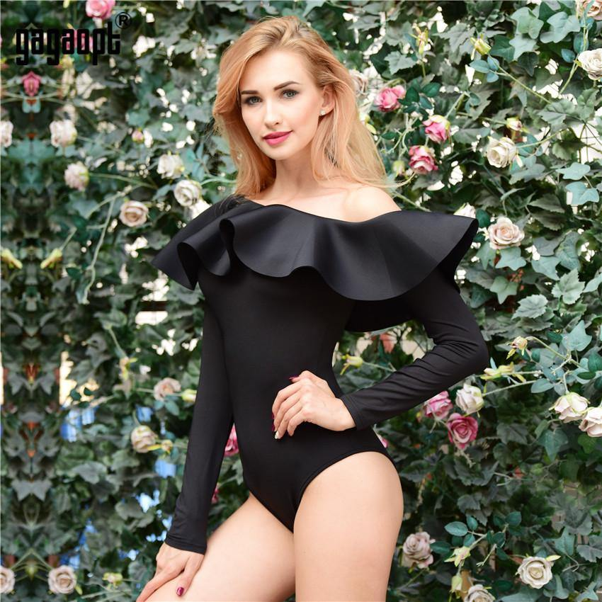 "Long Sleeve Ruffled ""Anna"" Bodysuit-Rompers-Look Love Lust"