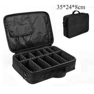 High Quality Professional Makeup Organizer Cosmetic Travel Case/ Large Capacity Storage Bag Suitcase-Makeup Tools-Look Love Lust
