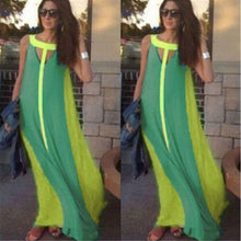 Load image into Gallery viewer, Halter Sleeveless Multicolor Boho Long Maxi Dress-Casual Dresses-Look Love Lust