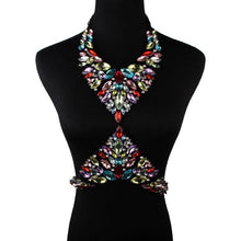Load image into Gallery viewer, Chunky Handmade Crystal Gem Statement Necklaces-Choker Necklaces-Look Love Lust