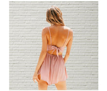 Load image into Gallery viewer, Lace Crochet V Neckline Backless Romper-Rompers-Look Love Lust