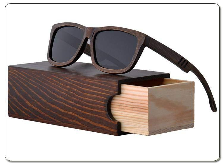 Fashionable Polarized Brown Bamboo Sunglasses-Sunglasses-Look Love Lust