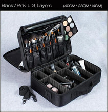 Load image into Gallery viewer, High Quality Professional Makeup Organizer Cosmetic Travel Case/ Large Capacity Storage Bag Suitcase-Makeup Tools-Look Love Lust
