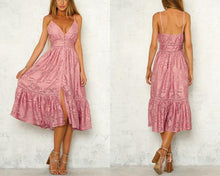 Load image into Gallery viewer, Flouncy Floral Lace Summer Dress-Dresses-Look Love Lust