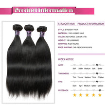 Load image into Gallery viewer, Brazilian Straight Hair Weave Bundles-Look Love Lust