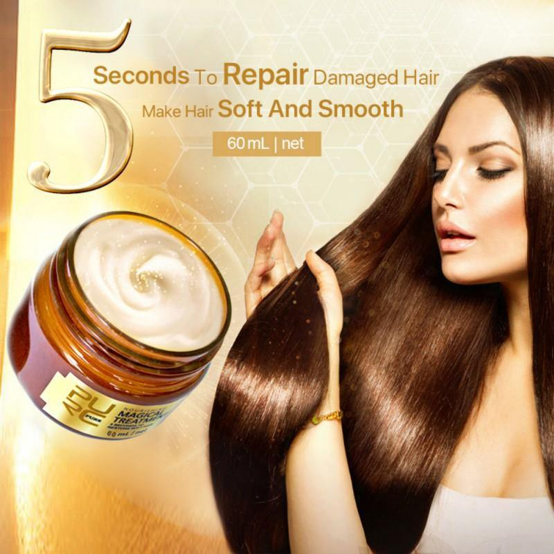 Deep Hair Conditioner Keratin Hair & Scalp Mask for Restoring Damaged Hair Restore Soft Hair 60ml-Hair Care-Look Love Lust