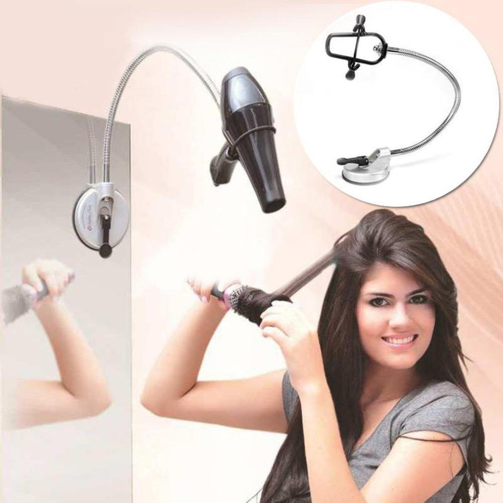 Hands Free 360 Degrees Rotation Hairdryer Organizing Holder Stand Rack with Suction Cup-Hair Accessories-Look Love Lust