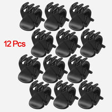 Load image into Gallery viewer, 12 Pcs Black Plastic Mini 6 Claw Hair Clips-Hair Care-Look Love Lust