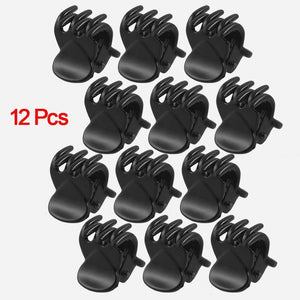 12 Pcs Black Plastic Mini 6 Claw Hair Clips-Hair Care-Look Love Lust