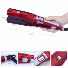 Load image into Gallery viewer, Kemei Fast Heating Tourmaline Ceramic Steam Vapor Spray Wet/Dry Hair Flat Iron Straightener-Hair Accessories-Look Love Lust