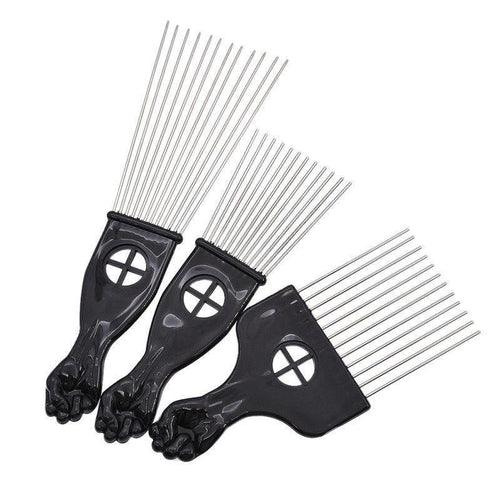 3 Size Black Fist Afro African Hair Pick Comb Styling Tool-Hair Accessories-Look Love Lust