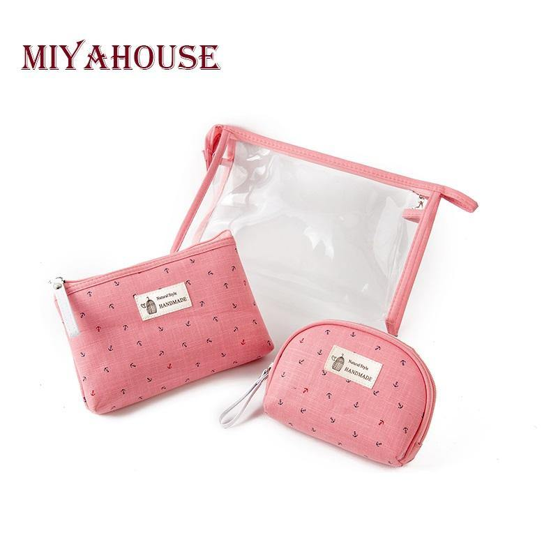 3pcs/set Portable PVC Pouch Travel Toiletry Bag-Cosmetic Bags & Cases-Look Love Lust