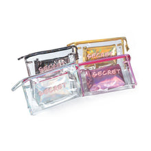 Load image into Gallery viewer, 2pcs/set Transparent PVC Cosmetic Bag-Look Love Lust