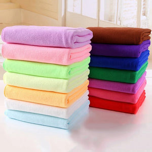 "Multiple Colors - High Quality Quick Drying Microfiber Towels for Curly Hair Method ""Plopping""-Hair Towels-Look Love Lust"