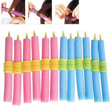 Load image into Gallery viewer, 12PCS Soft Bendy Hair Sponge Curler Rollers-Hair Care-Look Love Lust