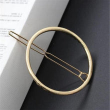 Load image into Gallery viewer, Gold/Silver Plated Metal Triangle Circle Moon Shaped Hair Clips-Hair Care-Look Love Lust