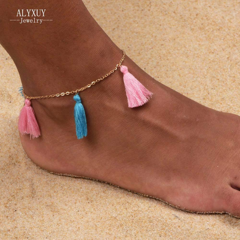 Candy Colored Tassel Anklet-Anklets-Look Love Lust