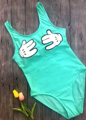 Hands Off Padded Beachwear-One-Piece Suits-Look Love Lust