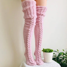 Load image into Gallery viewer, Knitted High Socks press-Stockings-Look Love Lust