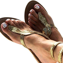 Load image into Gallery viewer, Gladiator Glitter Sandals-Look Love Lust