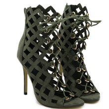 Load image into Gallery viewer, Sexy Hollow Cross Strap Gladiator High Heels-Stilettos-Look Love Lust