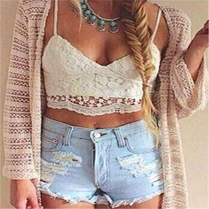Crochet Cami Crop Top-Blouses-Look Love Lust