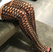 Load image into Gallery viewer, Studded Thigh High Heel Boots-Over-the-Knee Boots-Look Love Lust