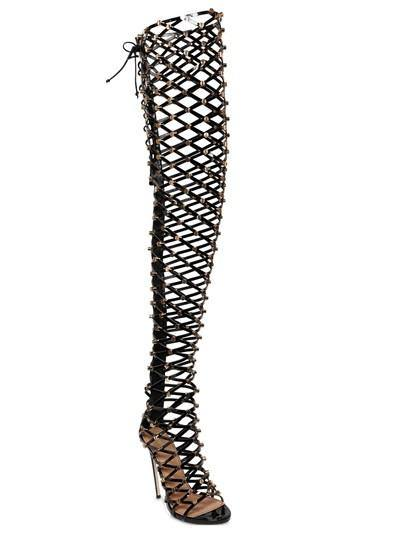 Studded Thigh High Heel Boots-Over-the-Knee Boots-Look Love Lust
