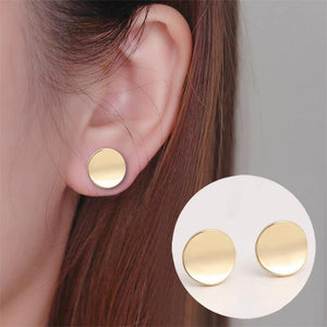 Erika Round Stud Earrings-Stud Earrings-Look Love Lust