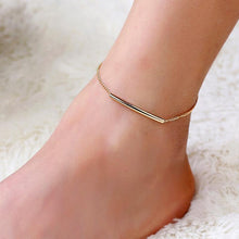 Load image into Gallery viewer, U Tube Gold Color Ankle Bracelet-Anklets-Look Love Lust