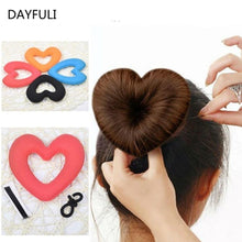 Load image into Gallery viewer, 1PC Heart Shaped Hair Donut Bun Updo Hair Tool-Hair Care-Look Love Lust