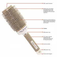 Load image into Gallery viewer, Nano Hairbrush Thermal Ceramic Ion Round Barrel Comb Hairdressing in 6 Sizes-Hair Accessories-Look Love Lust