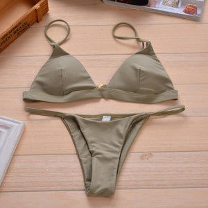 I am Sexy 2 Piece Triangle Beachwear-Bikinis Set-Look Love Lust