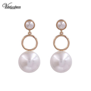 Pearl Drop Earrings-Look Love Lust
