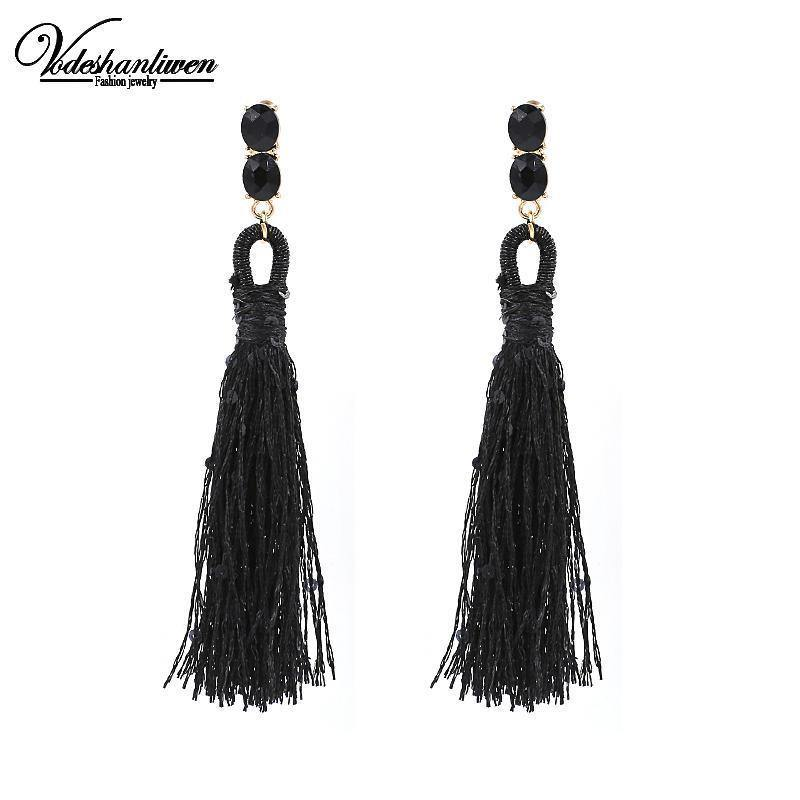 Long Tassel Earrings-Look Love Lust