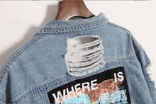 Load image into Gallery viewer, Where Is My Mind? Retro Frayed Embroidered Patch Denim Jacket-Outerwear-Look Love Lust
