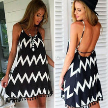 Load image into Gallery viewer, Spaghetti Strap Backless Sling Chiffon Dress-Look Love Lust