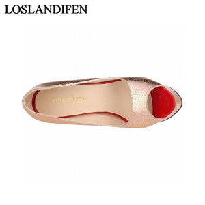 Peep Toe Pump-Women's Pumps-Look Love Lust