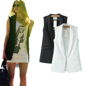 Sleeveless Blazer Jacket-Jacket-Look Love Lust